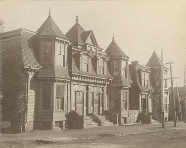 Unknown row houses, Halifax ca. 1900