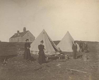 Temporary Housing after Great Windsor Fire, 1897