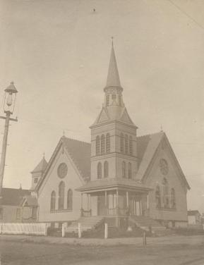 Oxford street Methodist Church, ca. 1900