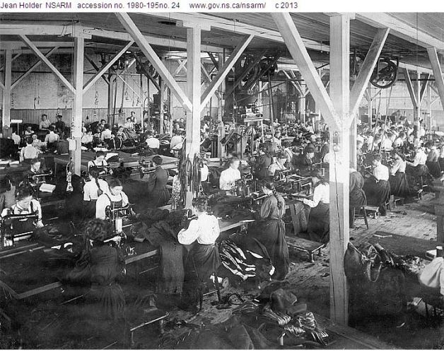 Workshop at Claytons & Sons ca. 1900 (Source: NSARM)