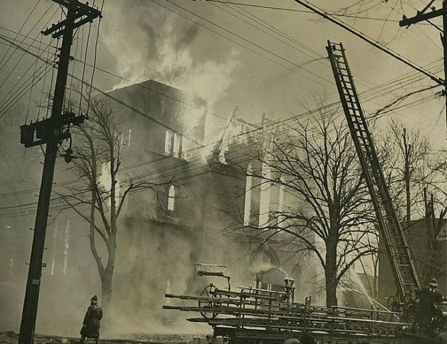 Fire at Labour Temple, 2 January 1945 (Halifax Civil Emergency Corps, NSA, 1995-188 no. 91)