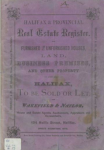 1877 Real Estate Register of Halifax