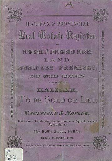 1877 Real Estate Register of Halifax