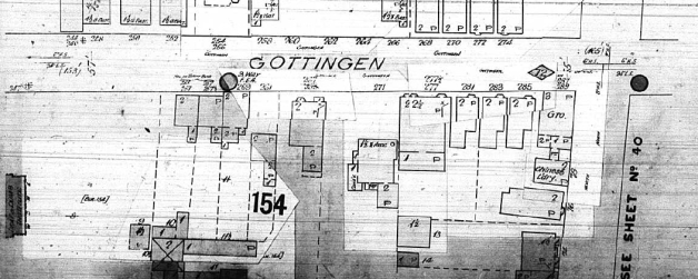 Portion of the 1895 Fire Insurance Map of Halifax showing 271 Gottingen Street